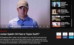 Golf Digest and Jordan Spieth