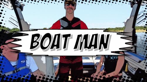 Boat Man with US Coast Guard