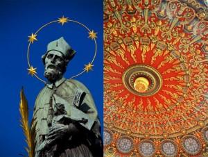 Prague Statue Bucharest Ceiling Combo